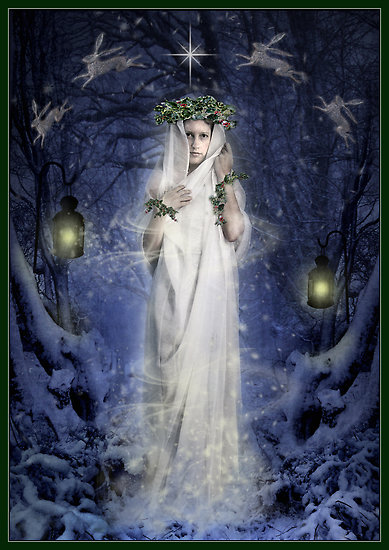 Yule Goddess by Angela Barrett