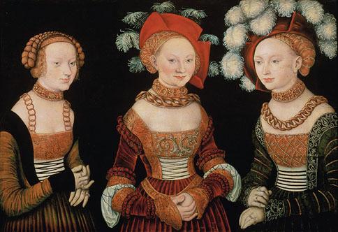 Three Princesses by Lucas Cranach