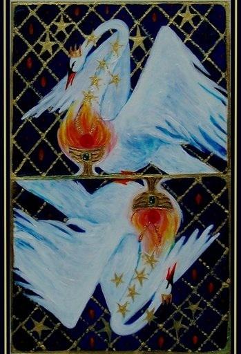 Grail Swan by Arlene deWinter